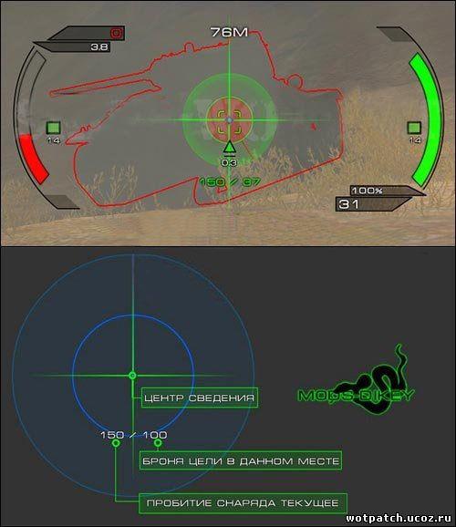 TAIPAN - Прицел с индикатором пробиваемости для World of Tanks 0.9.0
